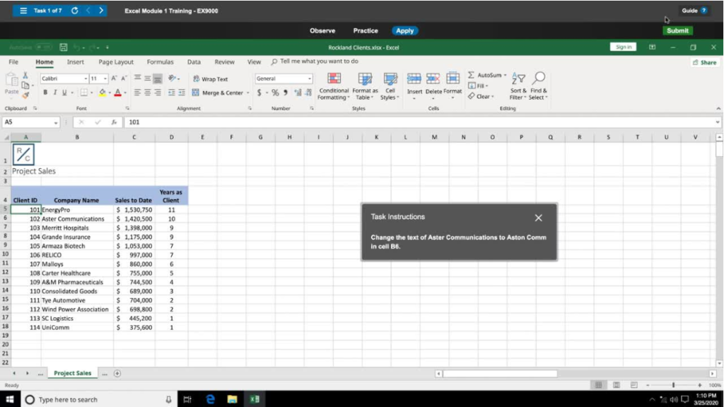 do my excel, word, PowerPoint and Access Cengage SAM project